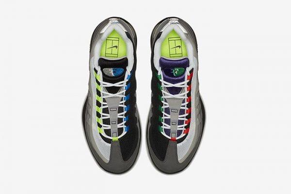 7b248a99be Nike continua il processo d'ibridazione a base di Air Max 95. Stavolta  tocca alle signature shoes di Roger Federer, le Court Vapor RF, che  arrivano con ...